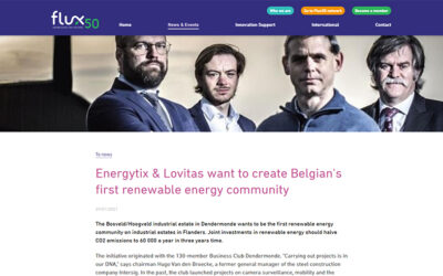 Vermelding van Energytix op de website van Flux50